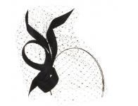 Philip Treacy London - Black  Buntal Bow