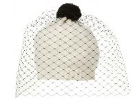 Bernstock Speirs - Cream Cashmere Veil Beanie