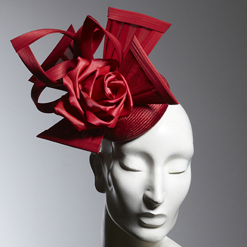 bd93b797 Philip Treacy London | Rose Mini Beano | Red and Pill Box Hats .